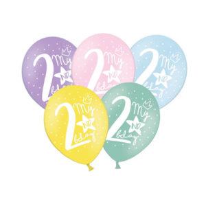 Pastellballonger 2års dag