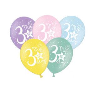 Pastellballonger 3års dag