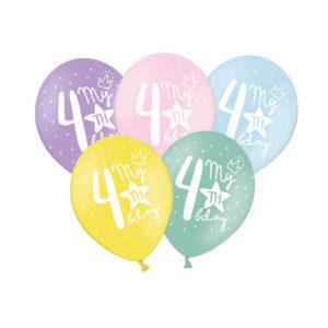 Pastellballonger 4års dag