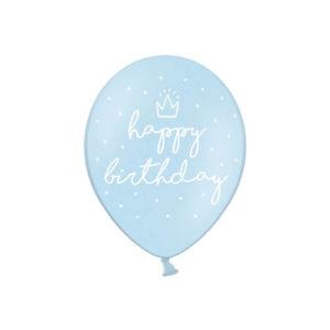 Dus Blå Happy Birthday Ballonger