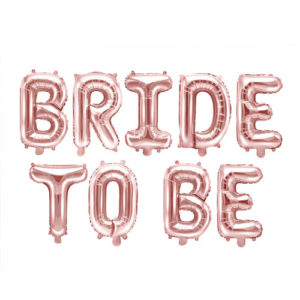 Bride to Be Ballongrekke Rose Gold