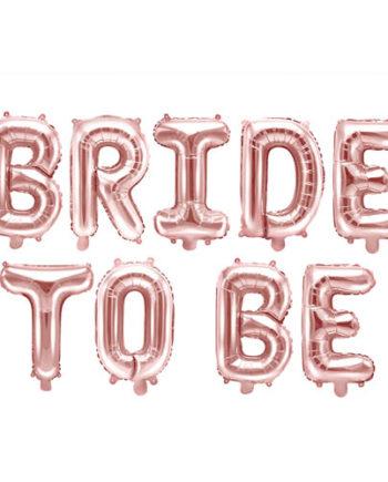 Bride to Be Ballongrekke Rose Gold
