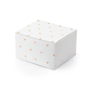 Treat box Gaveeske Rose Gold Hjerter