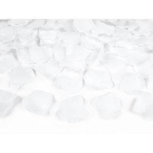 Kunstige roseblader hvit