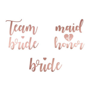 Team Bride Tatoveringer Rose Gold