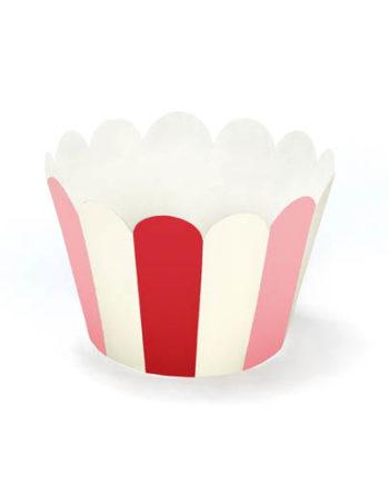 Cupcake Wrappers Rød Rosa Hvit