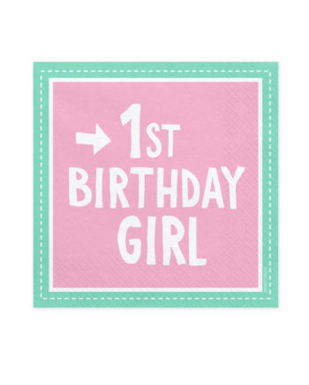 1st Birthday Girl Servietter
