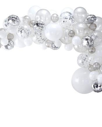 Ballongbue Sølv og Hvit