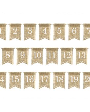 Bordnummer i Strie 1 - 20