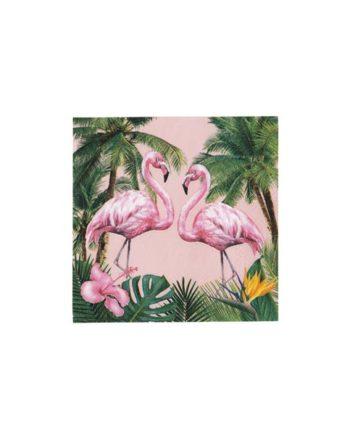Cocktail servietter Flamingo