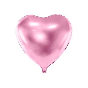 Hjerteballong Dus Rosa 45cm