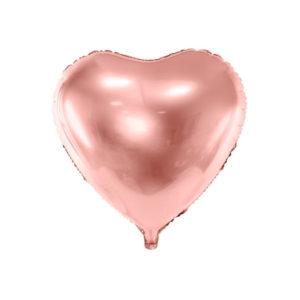 Hjerteballong Rose Gold 45 cm