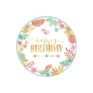 Happy Birthday Tallerkener 26 cm