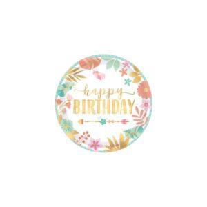 Happy Birthday Tallerkener 18 cm