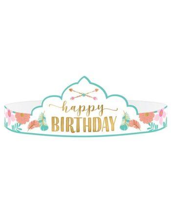 Happy Birthday Tiara 8 stk