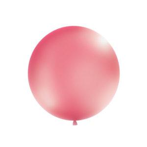 Gigantisk Rund Ballong Metallisk Fuchsia