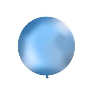 Gigantisk Rund Ballong Blå