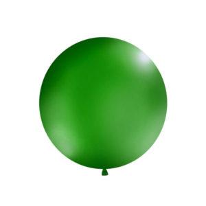 Gigantisk Rund Ballong Dyp Grønn