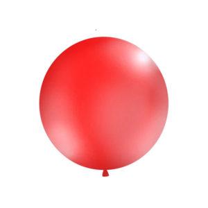 Gigantisk Rund Ballong Rød