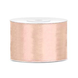Lys Peach Satengbånd 50mm