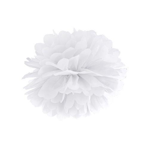 Pom Pom Hvit 35 cm