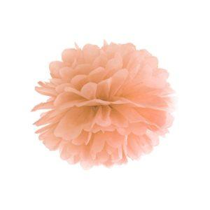 Pom Pom Lys Peach 35 cm