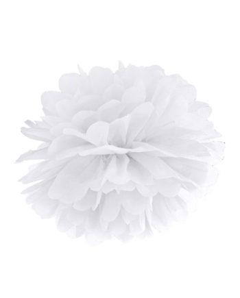 Pom Pom Hvit 25 cm