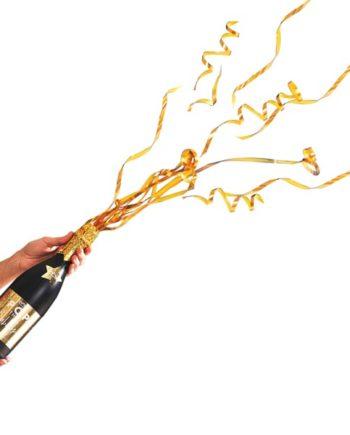 Champagneflaske Konfettikanon