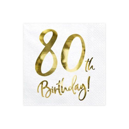 Servietter 80 th Birthday