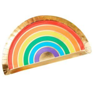Regnbue tallerkener