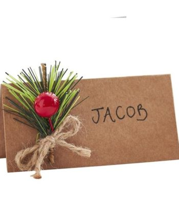 Bordkort med julepynt