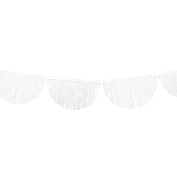 Frynsegirlander Hvit 32 cm