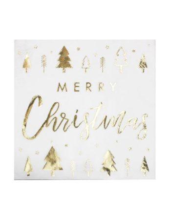 Juleservietter Merry Christmas