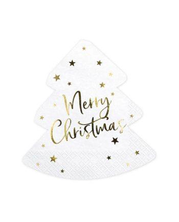 Merry Christmas Juletre Servietter