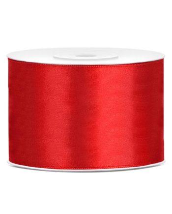 Rødt Satengbånd 50mm