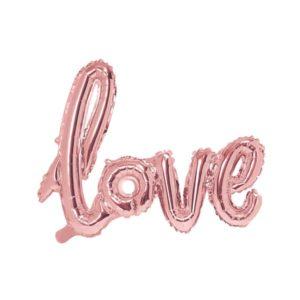 Ballongrekke Love Rose Gold