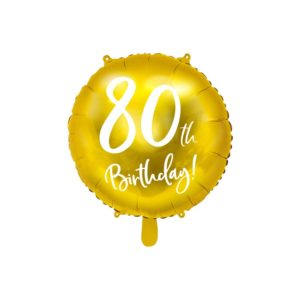 80th Birthday Folieballong