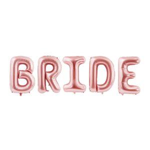 BRIDE ballongrekke Rose Gold 86cm