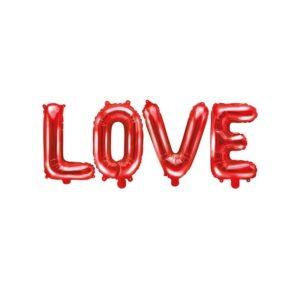 LOVE Ballongrekke Rød