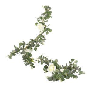 Kunstig Eucalyptus med roser