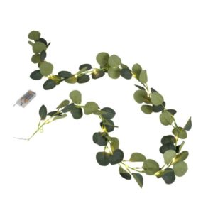 Kunstig Eucalyptus med lys