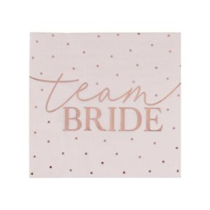 Servietter Team Bride Blush