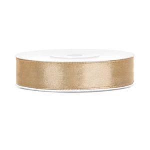 Satengbånd Gull 12mm