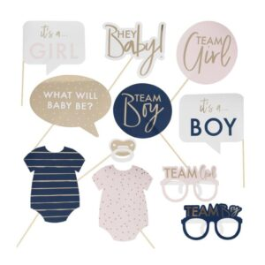 Gender Reveal Photo Props