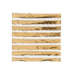 Serveitter Gullstriper 20 stk