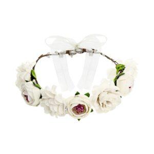 Blomsterkrans med hvite blomster