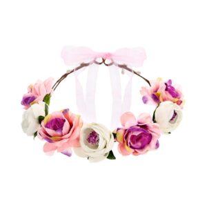 Blomsterkrans med rosa mix