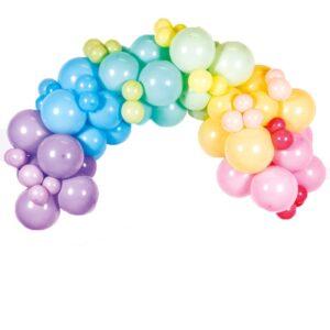 Ballongbue Pastell Regnbue