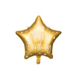 Stjerneballong Happy Birthday Gull