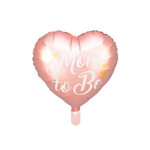 Hjerteballong Mom to be Rosa 35cm